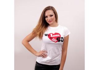 Dámske tričko s logom We love the 90's
