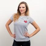 Dámske tričko s námorníckym motívom