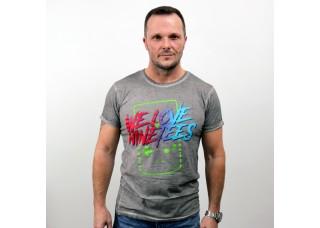 Unisex tričko šedé s potlačou