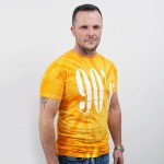 Unisex tričko s batikovaným motívom